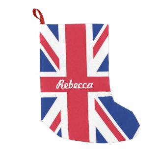 vintage london fashion british flag union jack small christmas stocking