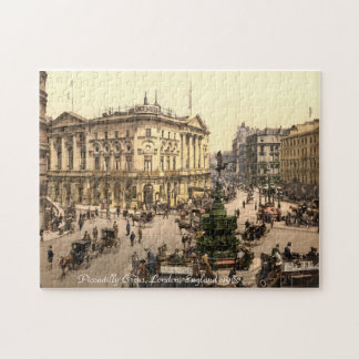 Vintage London Jigsaw, Piccadilly Circus Jigsaw Puzzle