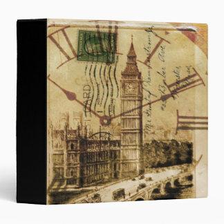 vintage london landmark landscape big ben 3 ring binders