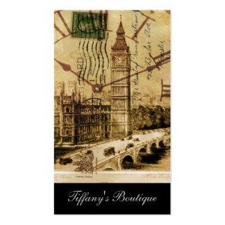 vintage london landmark landscape big ben business card