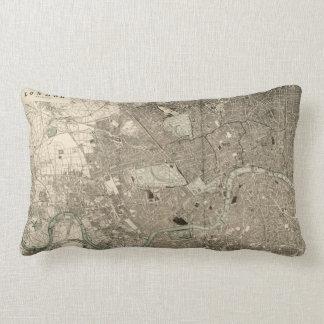 Vintage London Map Pillow
