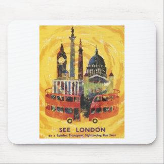 vintage London Mouse Pad
