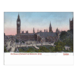 Vintage  London, Palace of Westminster pre-1904 Postcard