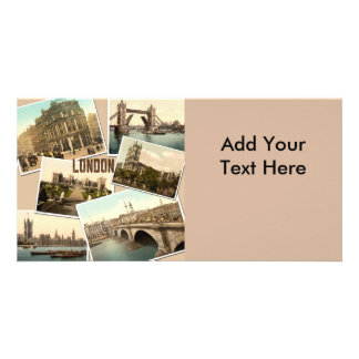 Vintage London Postcards Collage Photo Card