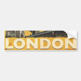 Vintage London Poster Bumper Sticker