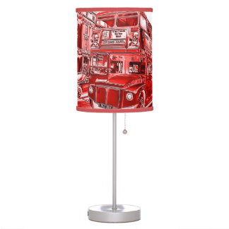 Vintage London Red Bus Table Lamp