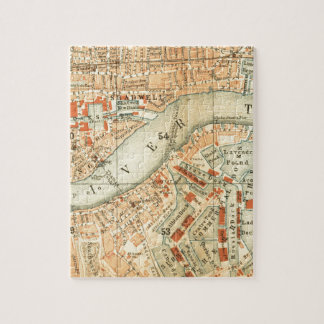 Vintage London River Thames Map accessories & gift Jigsaw Puzzle