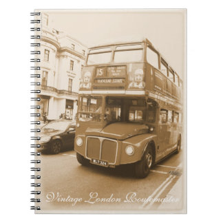 Vintage London Routemaster red bus Spiral Notebook
