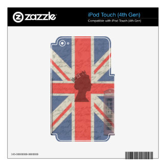 Vintage London Skins For iPod Touch 4G