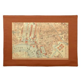 Vintage London Street Map Cloth Placemat