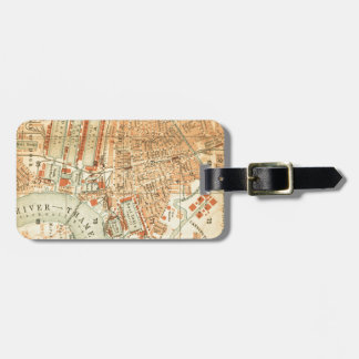 Vintage London Street Map Luggage Tag