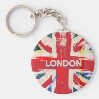 Vintage London Union Poster Basic Round Button Keychain