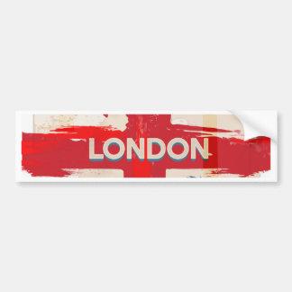 Vintage London Union Poster Bumper Sticker