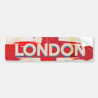 Vintage London Union Poster Bumper Sticker