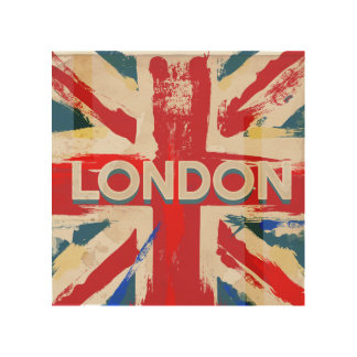 Vintage London Union Poster - Old mid 20th century Wood Wall Art