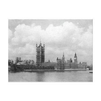 Vintage Londres, casas del parlamento 1904 Impresion En Lona