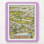 Vintage Londres Inglaterra Alfombrilla De Ratón