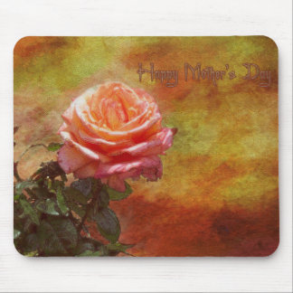 Vintage Lone Rose Mousepad Happy Mother s Day