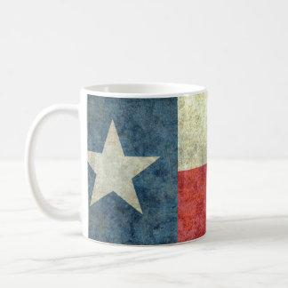 Vintage Lone star state flag of Texas Classic White Coffee Mug