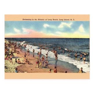 Vintage Long Beach Long Island New York Postcard