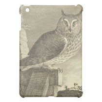 Vintage  Long Eared Owl Cover For The iPad Mini