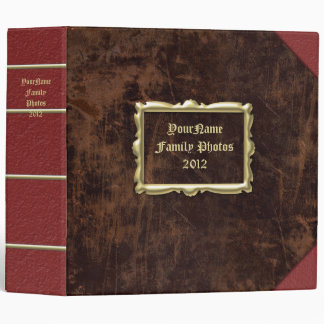"Vintage-Look 2"" Personalized Photo Album Binder"