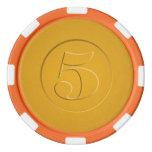Vintage Look 5 Poker Chips