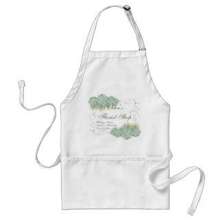 Vintage Look Aqua Hydrangea - Business Aprons apron