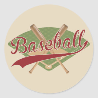 Vintage look Baseball Sticker