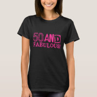 Vintage Look Birthday shirt | 50 and fabulous!