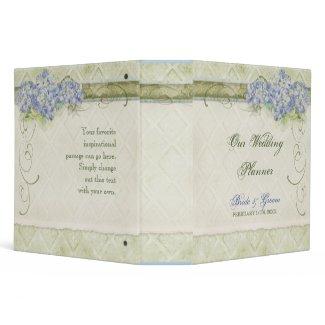 Vintage Look Blue Hydrangea - Wedding Planner binder