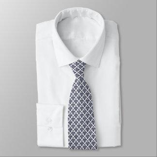 Vintage Look Blue & White Damask #3 Tie