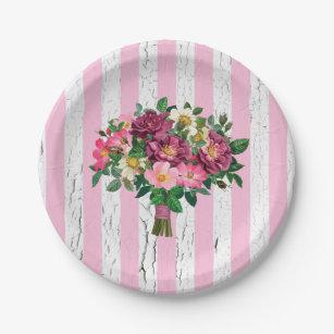 Vintage Look Bouquet Wild Roses Weathered Paper Plate  sc 1 st  Zazzle & Vintage Rose Bouquet Plates   Zazzle