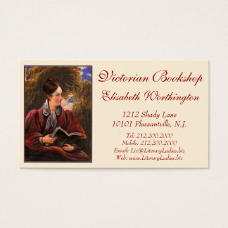 Vintage Look Card for Library, Bookshop, Book Fair