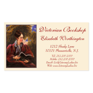 Vintage Look Card for Library, Bookshop, Book Fair Business Card
