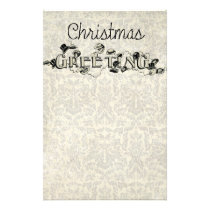 Vintage Look Christmas Greeting Stationery