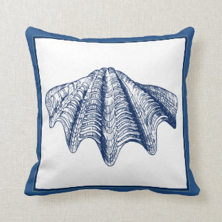 Vintage Look Clam Shell Pillow in Blue