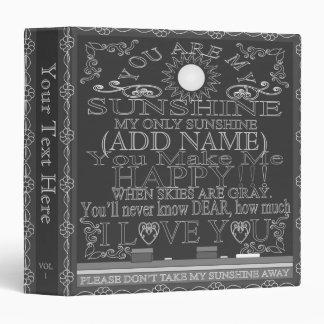 Vintage Look Custom Chalkboard Sunshine Binder