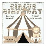 Vintage Look Custom Circus Birthday Invitation