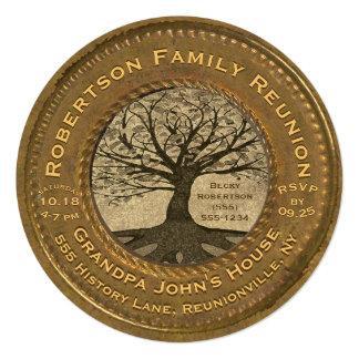 Vintage Look Family Tree Reunion Card