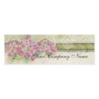 Vintage Look Floral Blue Hydrangea Flowers Swirl Business Cards