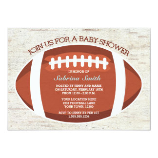 Vintage Look Football Baby Shower Invitation