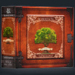 """Vintage Look Genealogy Family Tree 3 Ring Binder<br><div class=""""desc"""">A great looking family tree design that any genealogy enthusiast would love in a vintage red old leather look.</div>"""