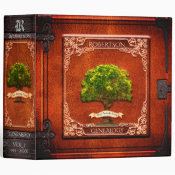 Vintage Look Genealogy Family Tree 3 Ring Binder (<em>$24.15</em>)