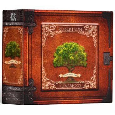 thetreeoflife Vintage Look Genealogy Family Tree 3 Ring Binder
