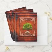 Vintage Look Genealogy Family Tree Pocket Folder (<em>$21.06</em>)