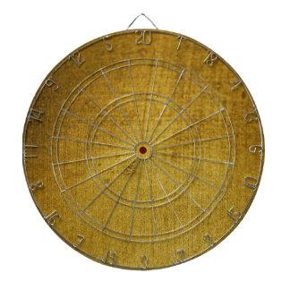 Vintage-Look gold used Dartboard