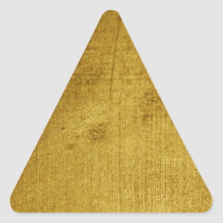 Vintage-Look gold used Triangle Sticker