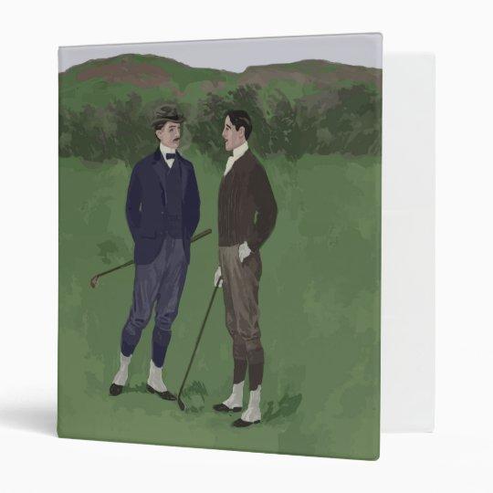 Vintage look golf scene binder