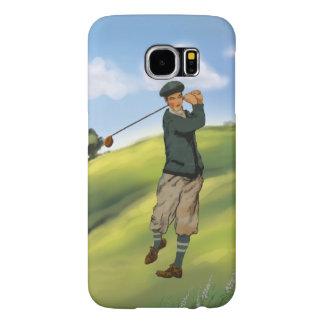 Vintage look Golfer Golf Samsung Galaxy S6 Case